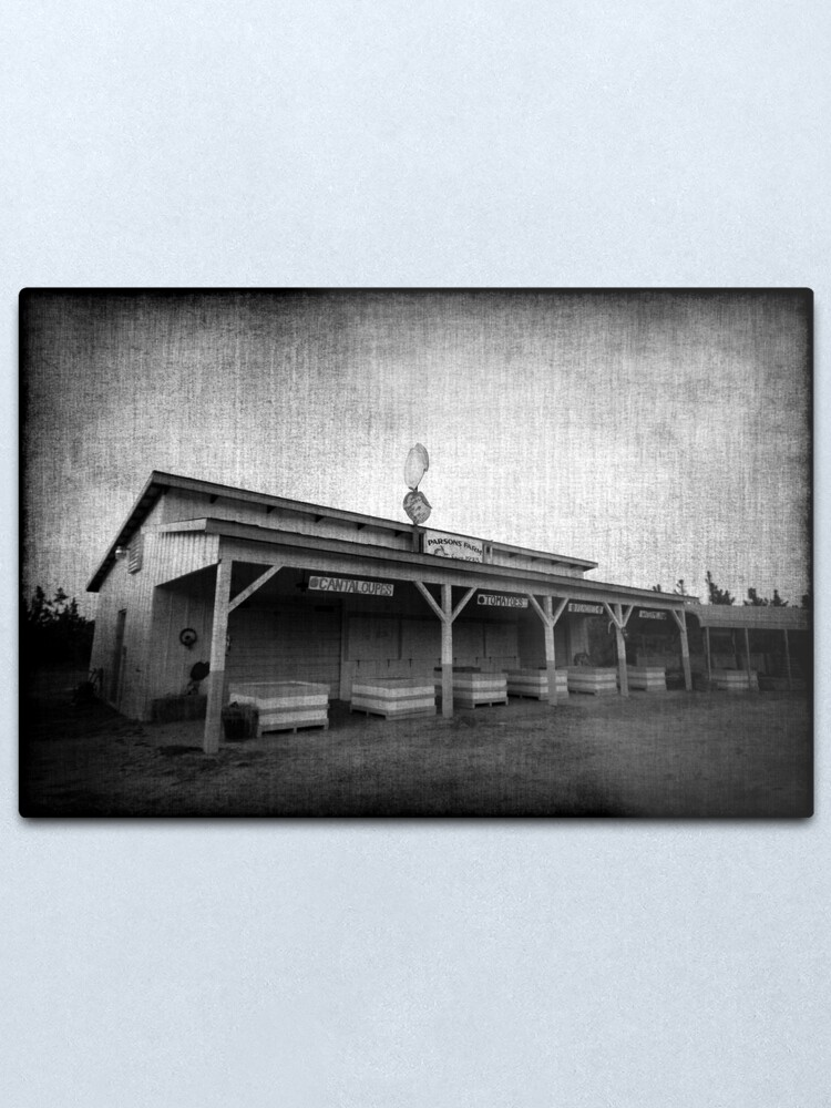 Alternate view of The Peach Stand Metal Print
