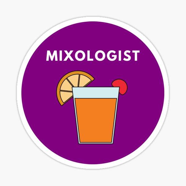 Cocktail Mixology Badge Sticker Sticker