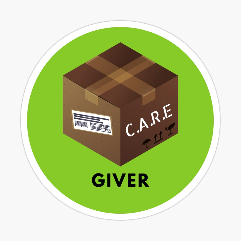 Care Package Giver Badge Sticker Sticker