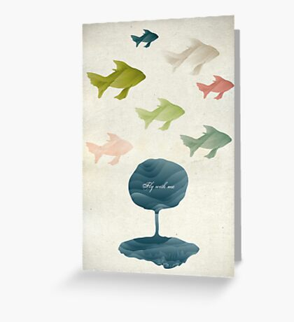 Fly with me Greeting Card