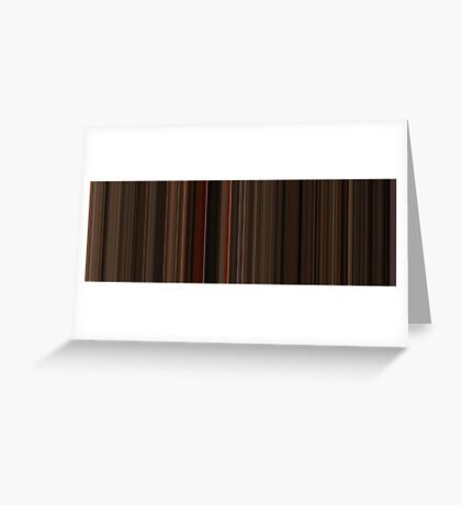 Moviebarcode: Gone with the Wind (1939) [Simplified Colors] Greeting Card