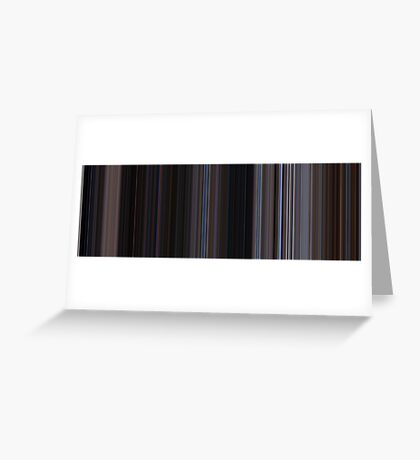 Moviebarcode: The War of the Worlds (1953) [Simplified Colors] Greeting Card