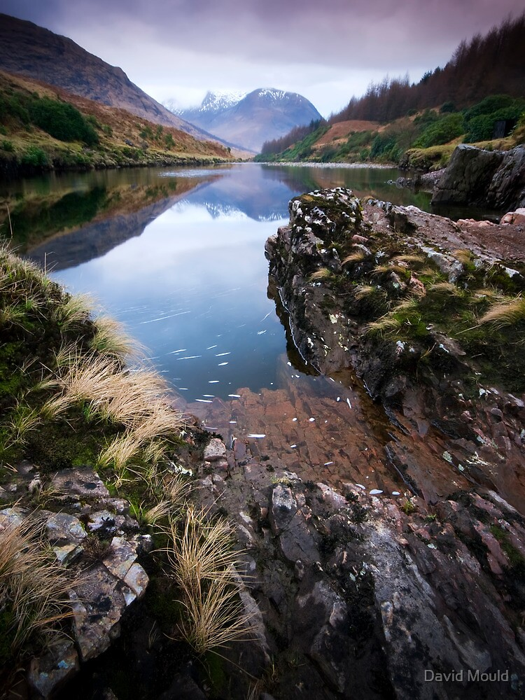 River Etive towards Ben Starav  by David Mould