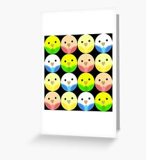Roly Poly Parakeets Greeting Card