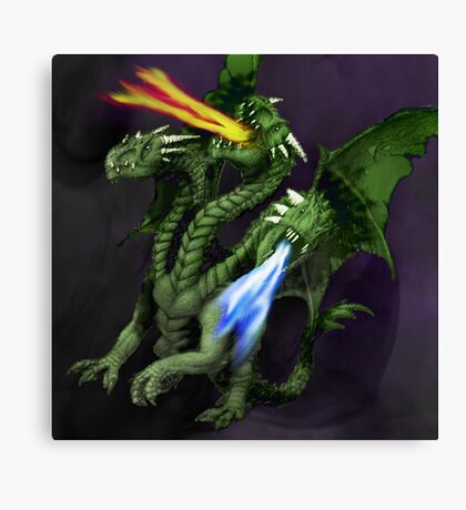 3 Headed Dragon Canvas Print