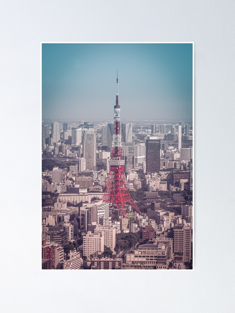 Alternate view of Tokyo Tower Day Poster