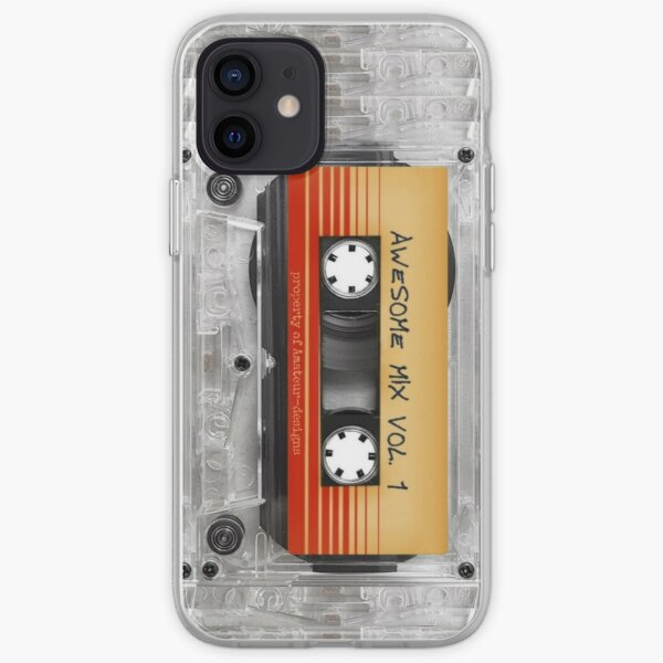 Transparent Cassette Tape AWESOME MIX iPhone Soft Case