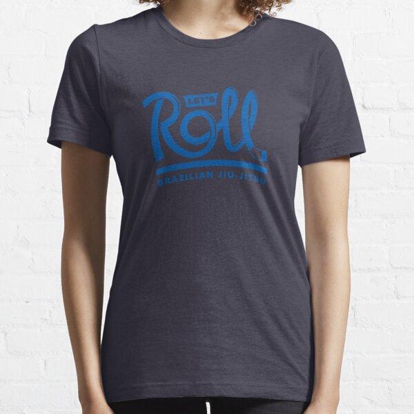 Let's Roll Brazilian Jiu-Jitsu Blue Belt Essential T-Shirt