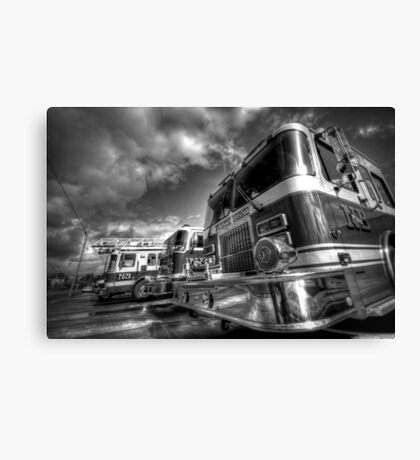 Fire Trucks and Chrome Canvas Print