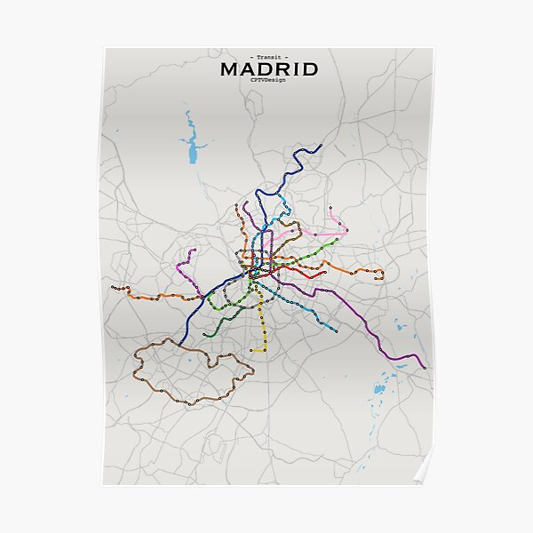 Real Madrid Metro Tube Subway Poster