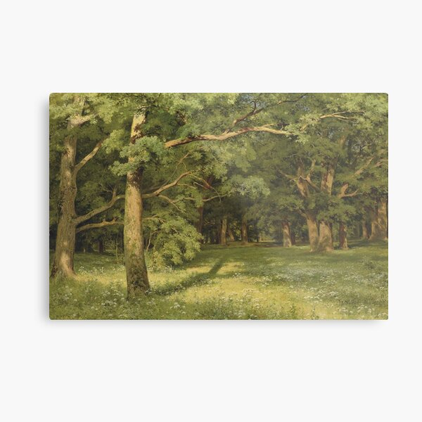 The Forest Clearing, 1896 - Ivan Shishkin Metal Print