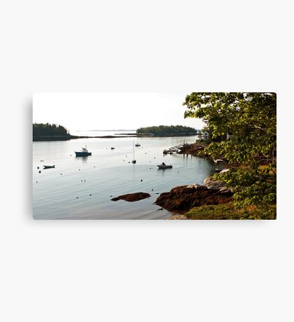 A Secluded Harbor - Southport,  Maine Canvas Print