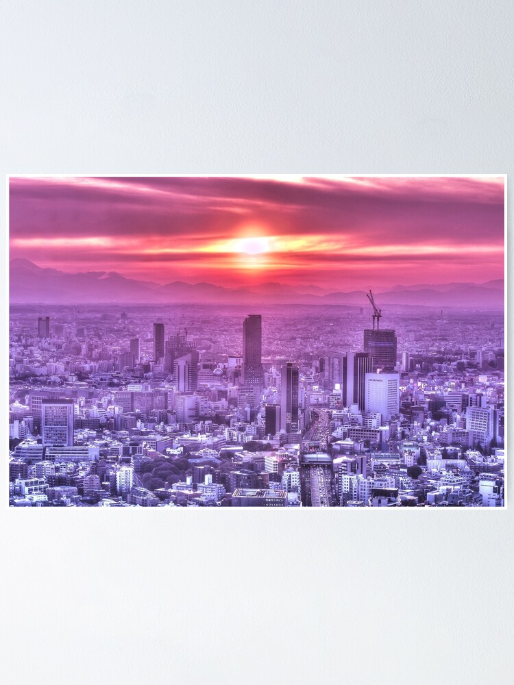 Alternate view of Sunset over Tokyo Poster