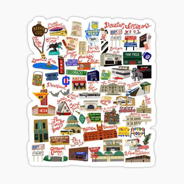 Decatur, Illinois Days Gone By Sticker