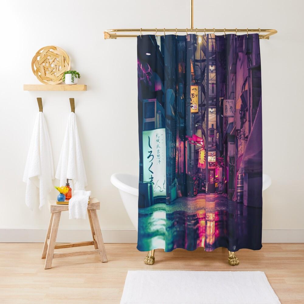 Film Noir Tokyo Shower Curtain
