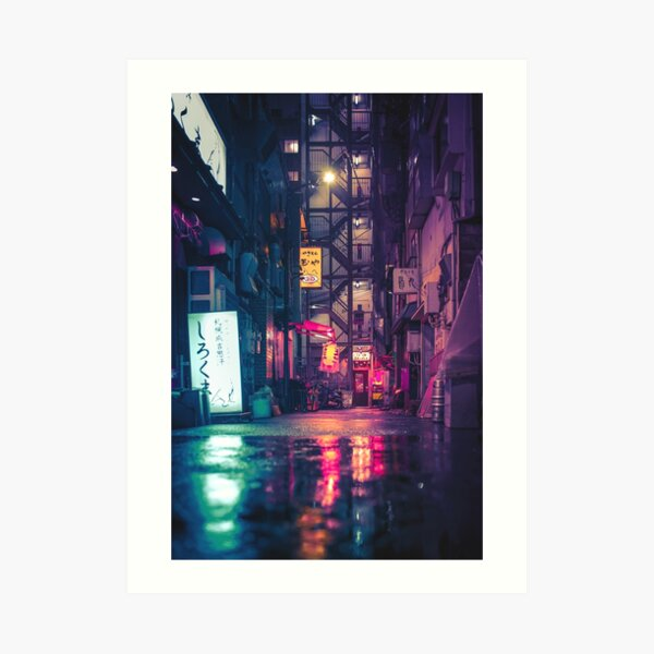 Film Noir Tokyo Art Print