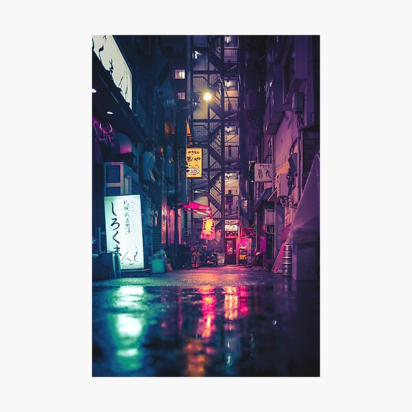 Film Noir Tokyo Photographic Print