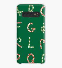 Christmas ABC Lollipops  Case/Skin for Samsung Galaxy