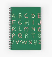 Christmas ABC Lollipops  Spiral Notebook