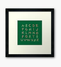 Christmas ABC Lollipops  Framed Print