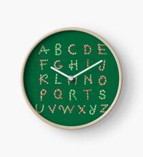 Christmas ABC Lollipops  Clock