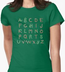 Christmas ABC Lollipops  Fitted T-Shirt