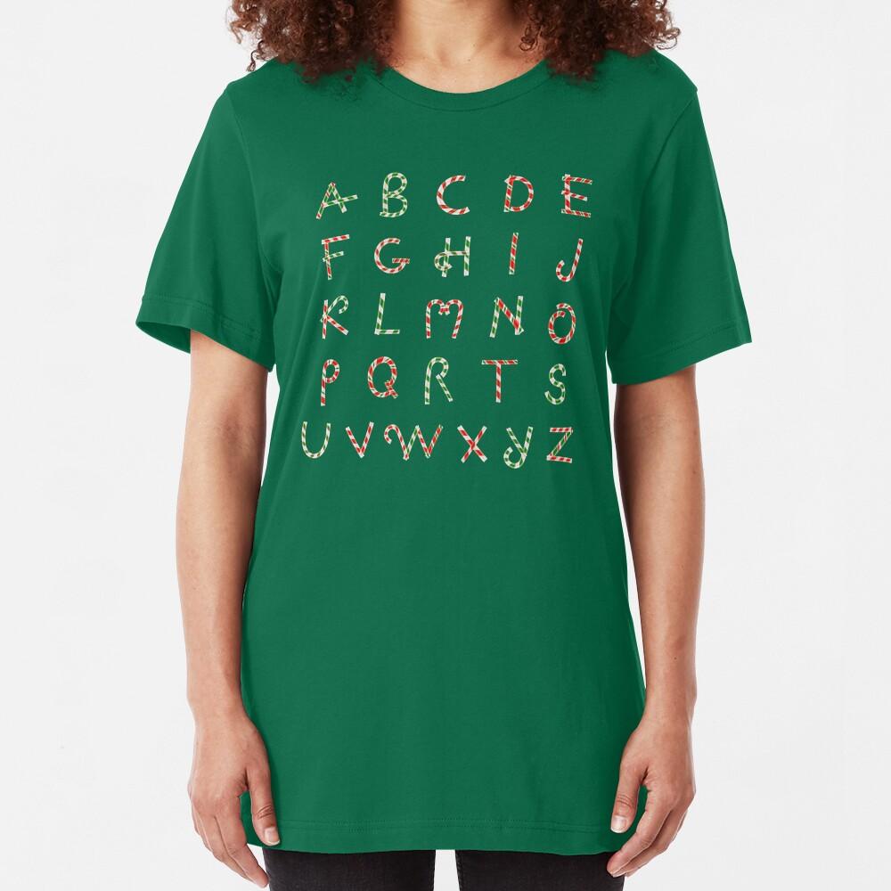 Christmas ABC Lollipops  Slim Fit T-Shirt