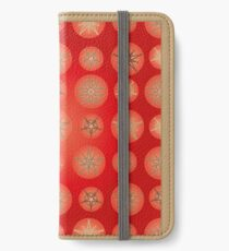 Christmas - Golden Stars iPhone Wallet/Case/Skin