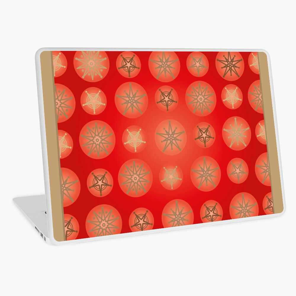 Christmas - Golden Stars Laptop Skin