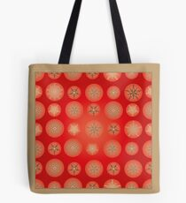 Christmas - Golden Stars Tote Bag