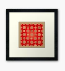 Christmas - Golden Stars Framed Print