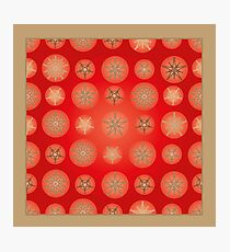 Christmas - Golden Stars Photographic Print