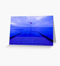 LYTHAM JETTY BLUE Greeting Card