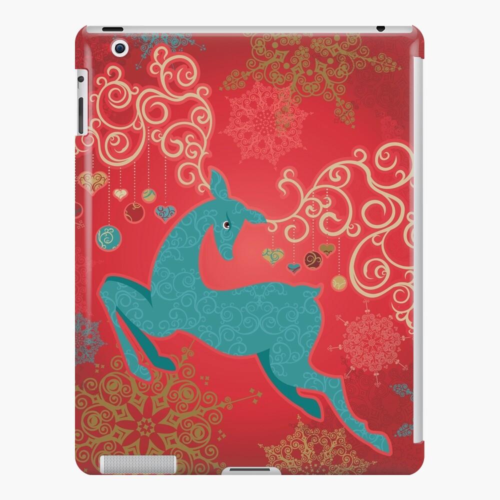 Christmas Deer on Red   iPad Snap Case