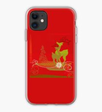 Winter Couple Deer iPhone Case