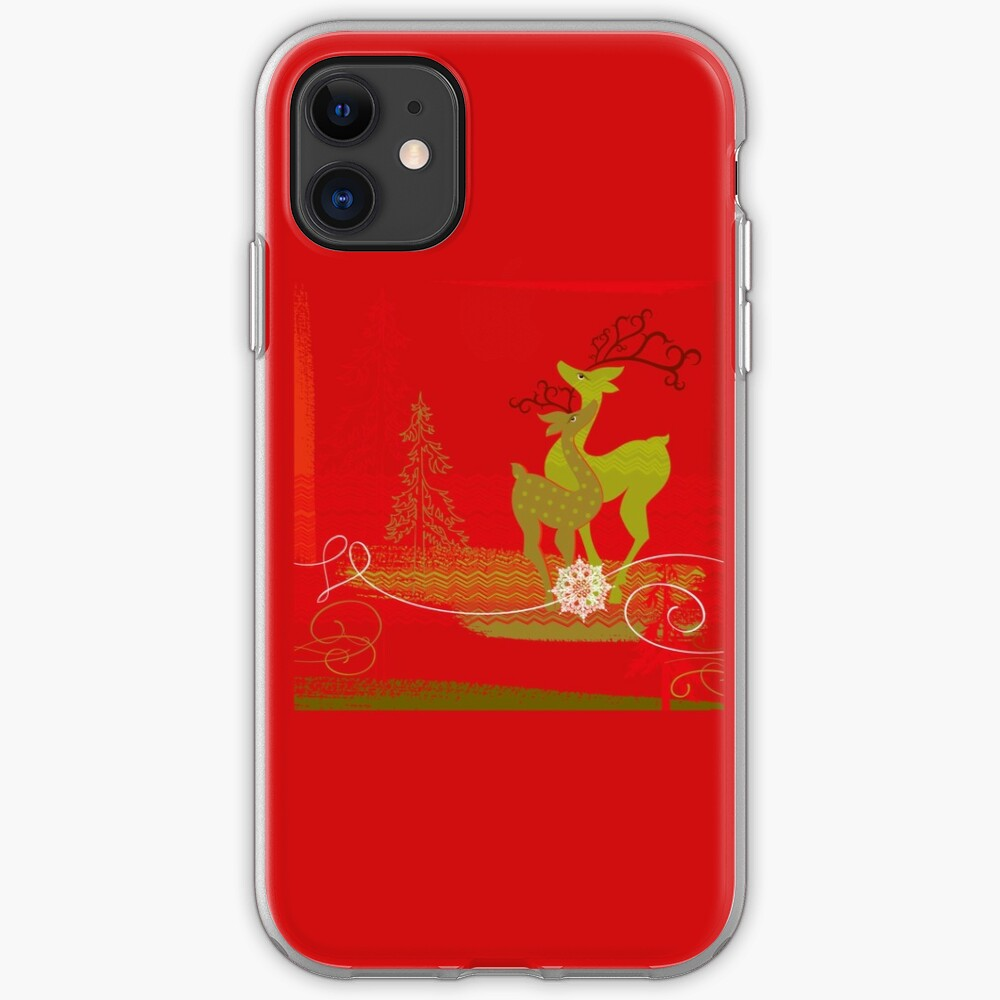 Winter Couple Deer iPhone Soft Case