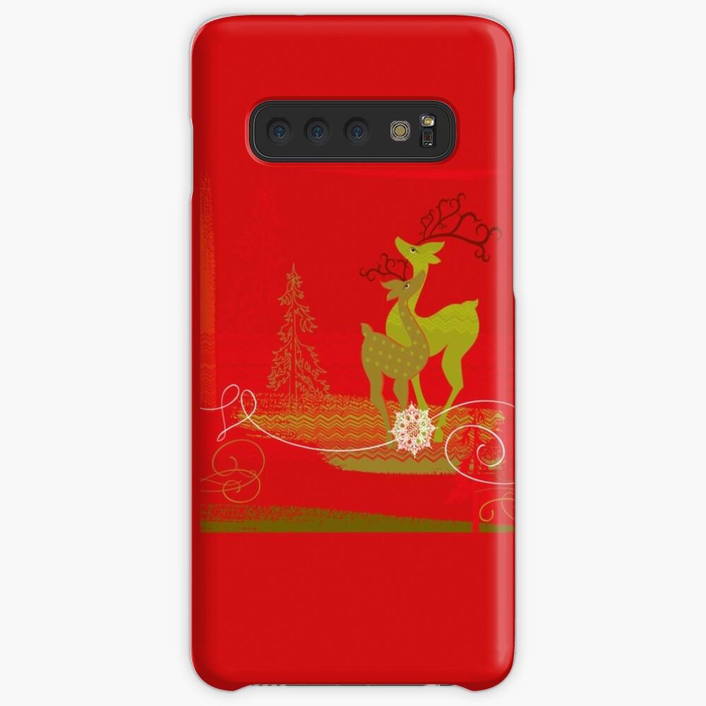 Winter Couple Deer Samsung Galaxy Snap Case