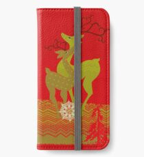 Winter Couple Deer iPhone Wallet/Case/Skin