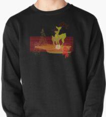 Winter Couple Deer Pullover Sweatshirt