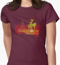 Winter Couple Deer Fitted T-Shirt