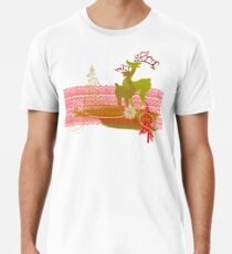 Winter Couple Deer Premium T-Shirt
