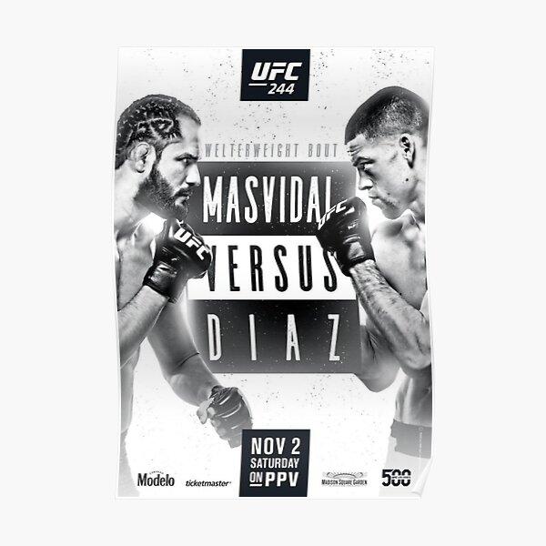 Nate Diaz vs Jorge Masvidal Poster