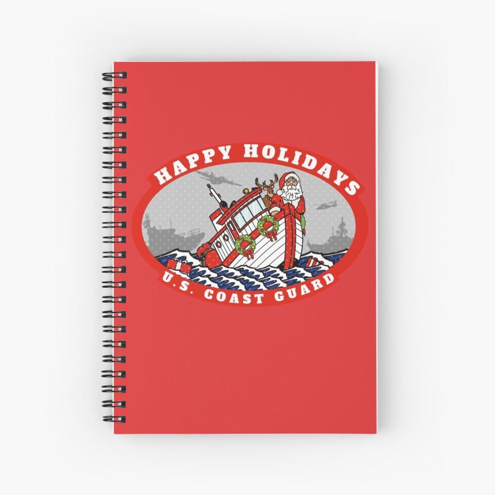 U.S. Coast Guard Happy Holidays  Spiral Notebook