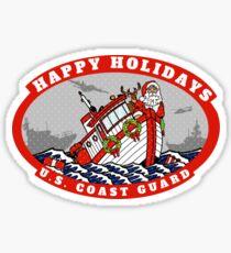 U.S. Coast Guard Happy Holidays  Sticker