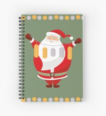 Lucky Santa Claus Spiral Notebook