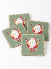 Lucky Santa Claus Coasters