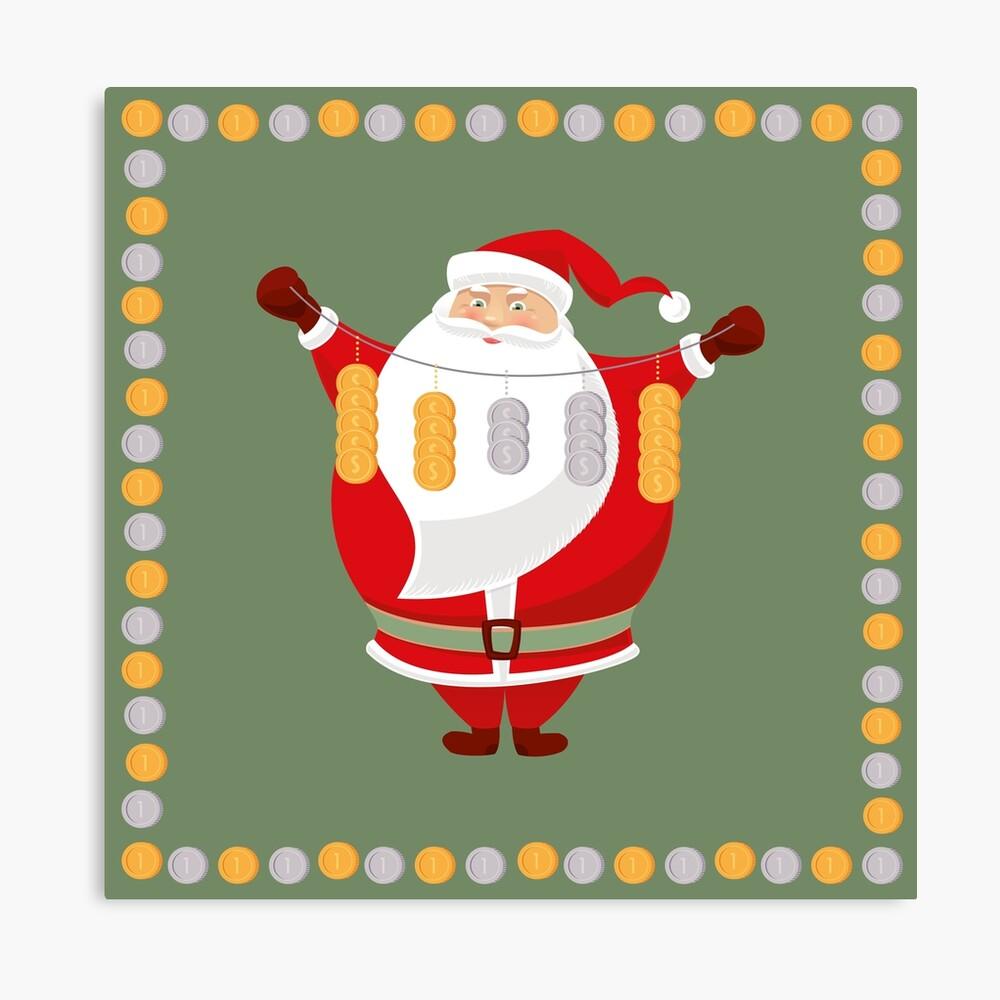 Lucky Santa Claus Canvas Print