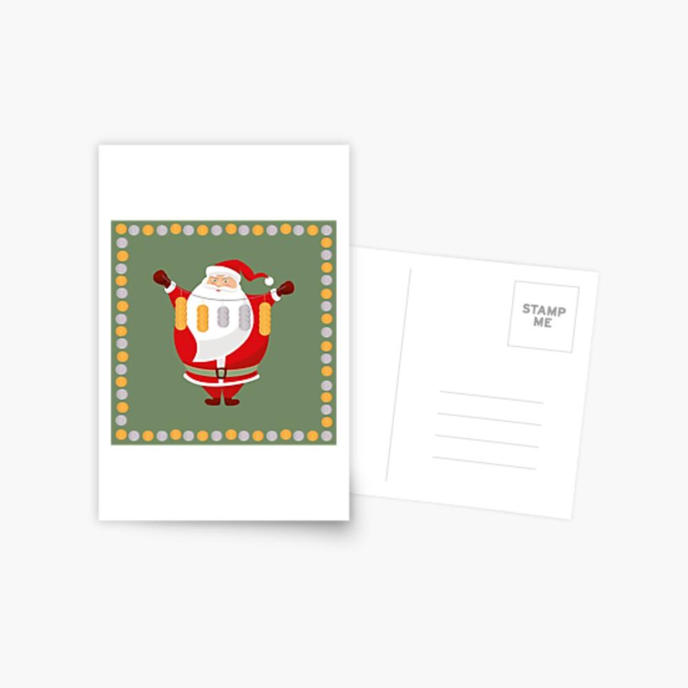 Lucky Santa Claus Postcard