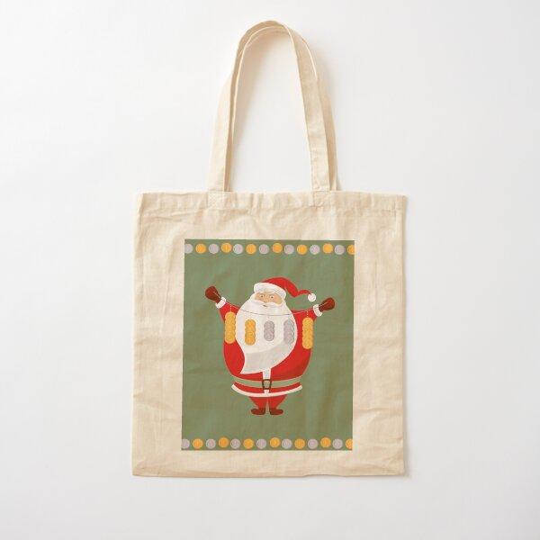 Lucky Santa Claus Cotton Tote Bag