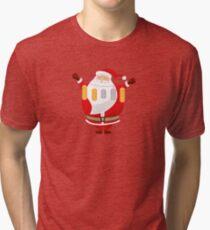 Lucky Santa Claus Tri-blend T-Shirt